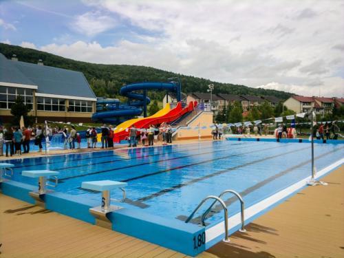 """Kompleks sportowo-rekreacyjny przy pływalni krytej """"DELFIN"""" w Ustrzykach Dolnych"""